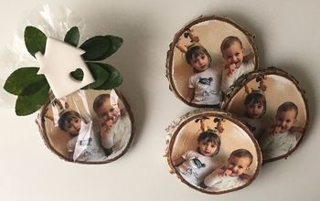 Christmas Gift Fridge Magnet - Photo Transfer