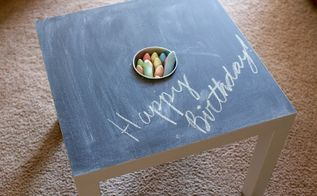 diy ikea chalkboard activity table, chalkboard paint, crafts, painted furniture