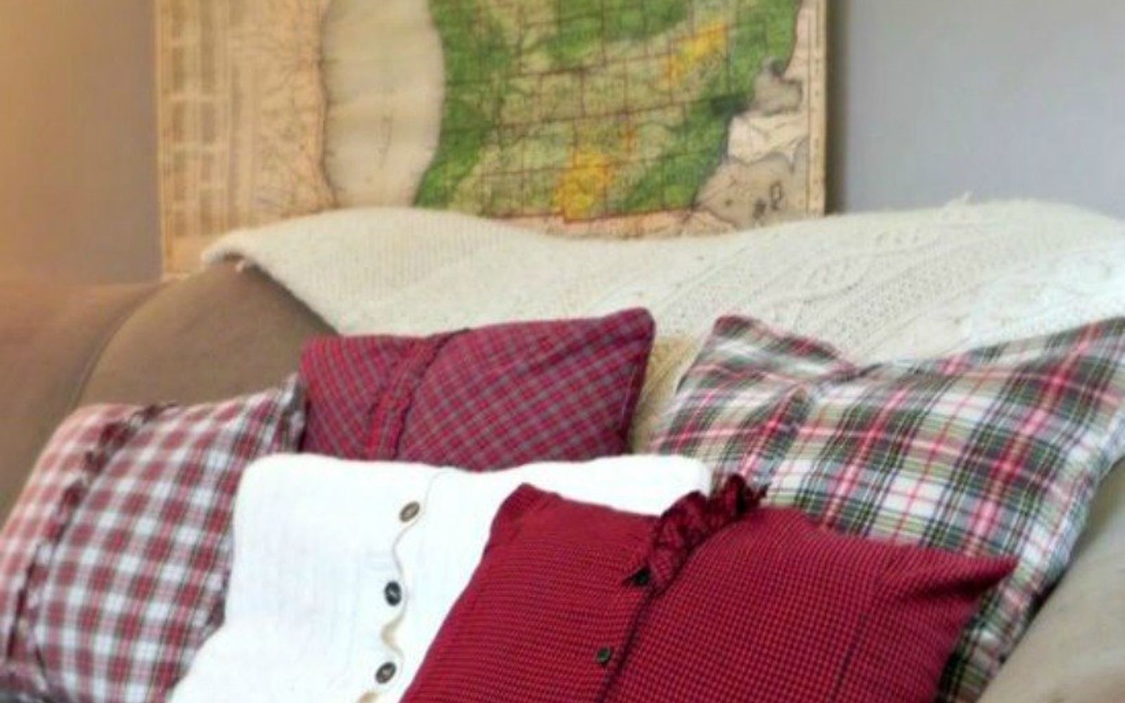 s 16 affordable ways to warm up your home this winter, home decor, Or make some covers out of plaid shirts