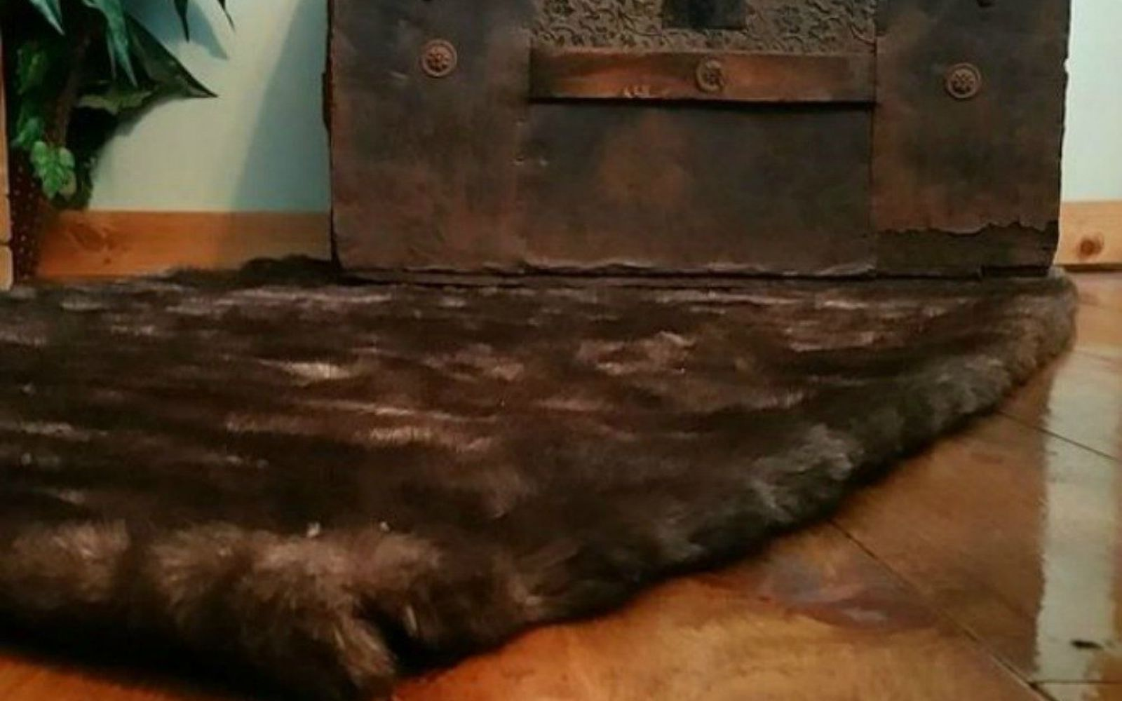 s 16 affordable ways to warm up your home this winter, home decor, Or repurpose a fur coat into a rug