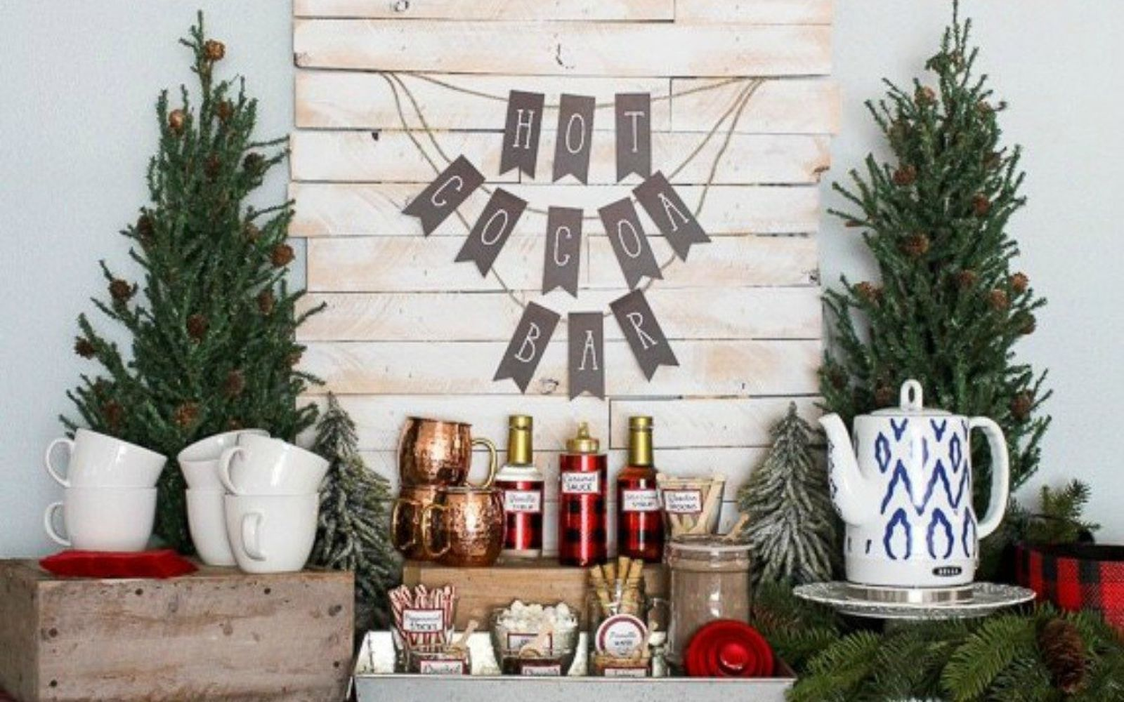 s 16 affordable ways to warm up your home this winter, home decor, Set up a hot cocoa stand