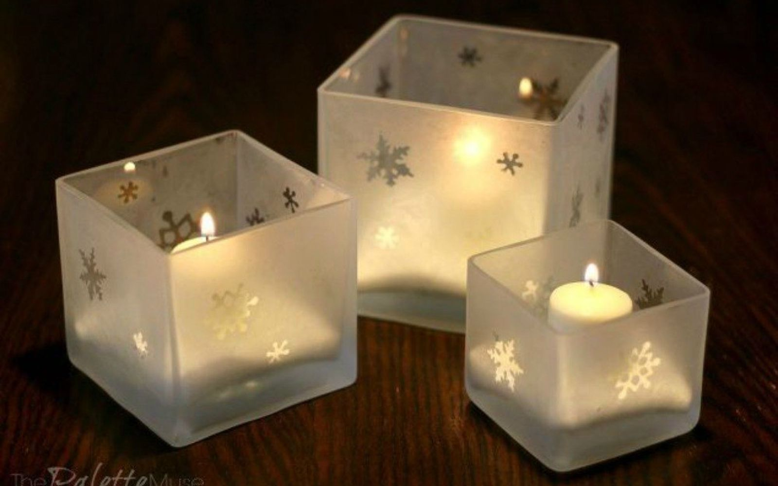 s 16 affordable ways to warm up your home this winter, home decor, Make your own etched glass candle holders
