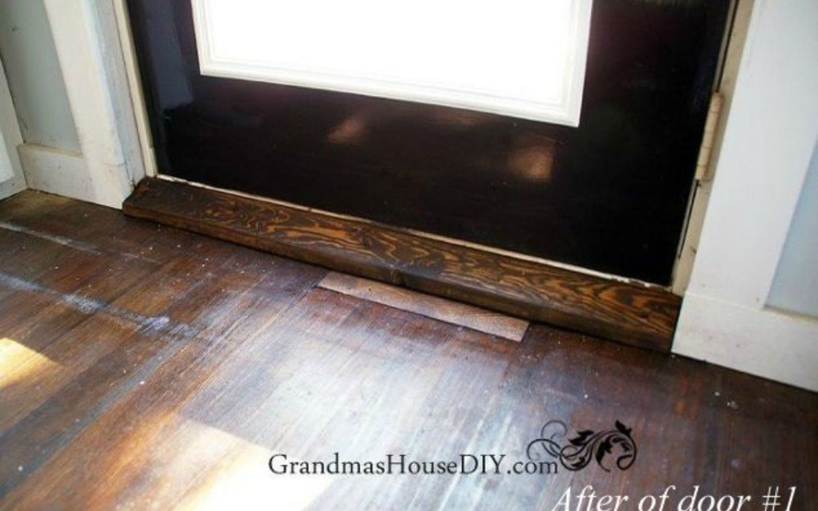s 16 affordable ways to warm up your home this winter, home decor, Make your own door threshold