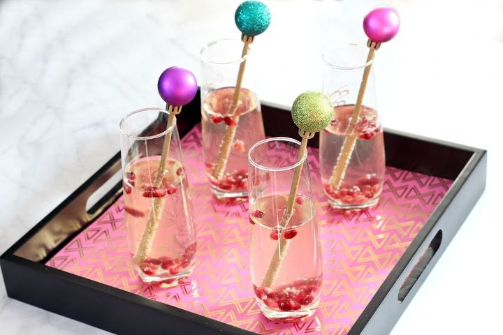 festive diy cocktail stirrers