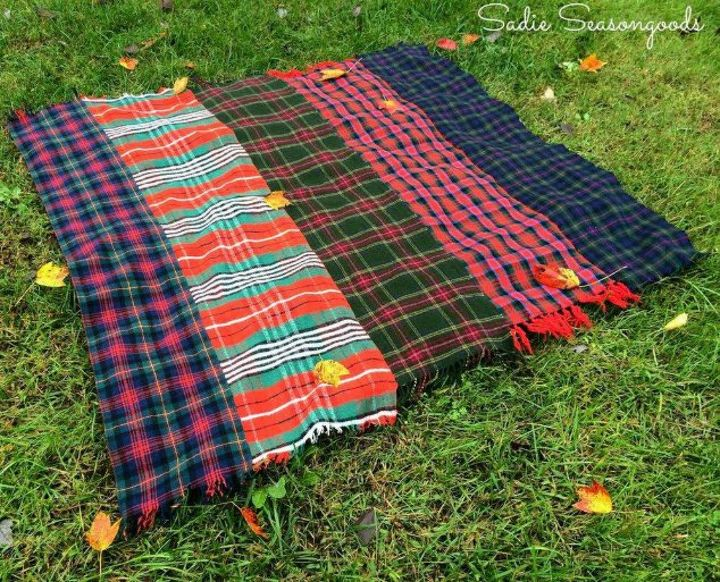 s use your old scarves for these x amazing home decor ideas, home decor, Sew a few together to make a throw blanket