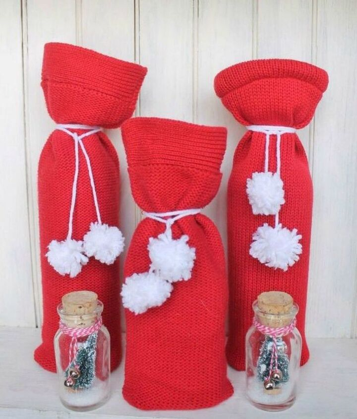 s use your old scarves for these x amazing home decor ideas, home decor, Turn it into a nifty wine bag