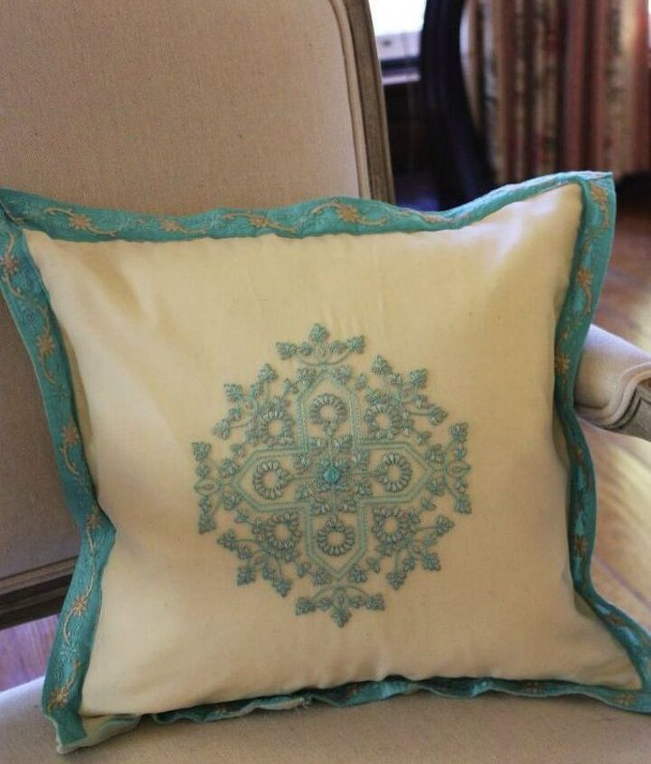 s use your old scarves for these x amazing home decor ideas, home decor, Cut it into a gorgeous pillow cover