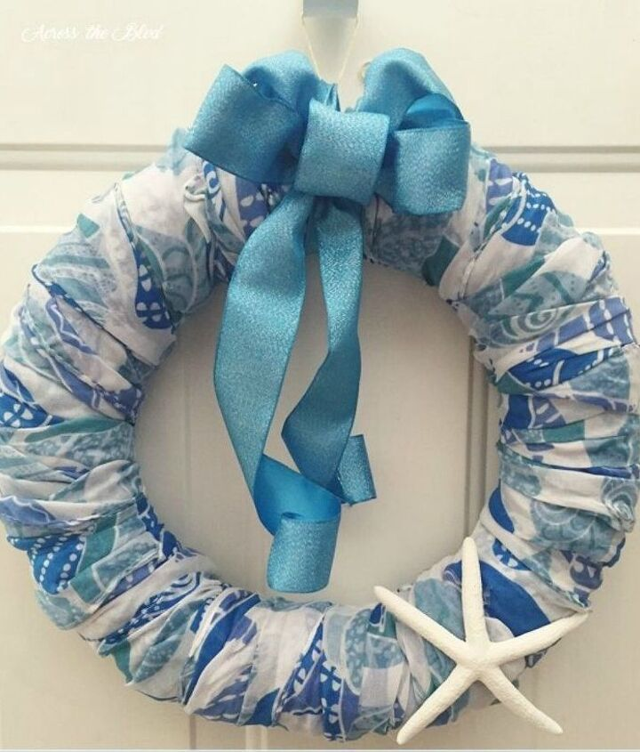s use your old scarves for these x amazing home decor ideas, home decor, Wrap it around a wreath form
