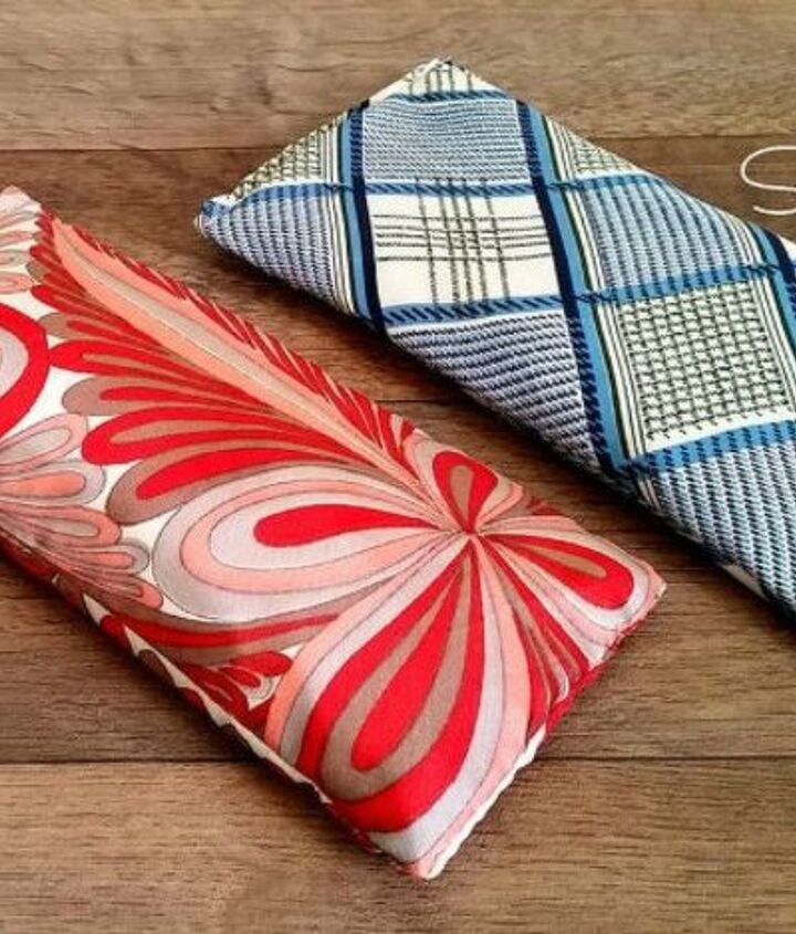 s use your old scarves for these x amazing home decor ideas, home decor, Make it into an eye pillow