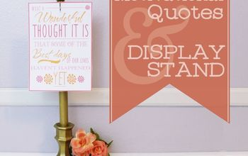 Upcycled Candle Holder to Photo/Quote Stand