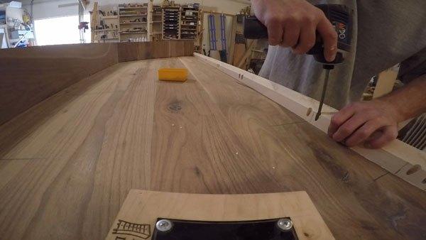 Building a Floating Vanity With a Live Edge Walnut Slab   Hometalk