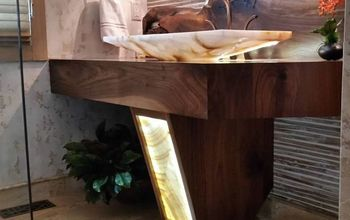 building a floating vanity with a live edge walnut slab, bathroom ideas, woodworking projects