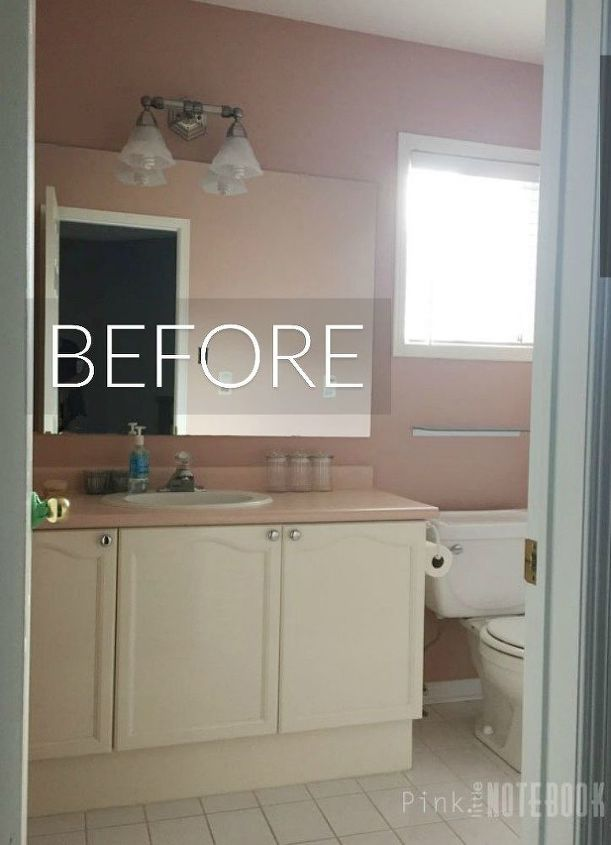 s the best room makeovers of 2016, Before A pink and 70 s bathroom