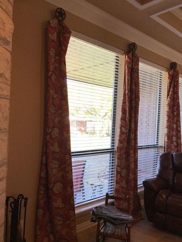 q texas star drapery hardware, home decor, window treatments