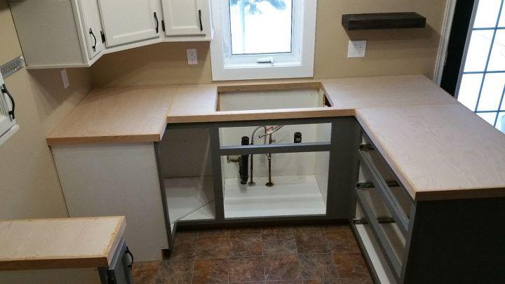 Very Inexpensive Diy Wood Countertops Hometalk