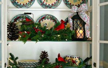 Kitchen Hutch Decorating Ideas for Winter