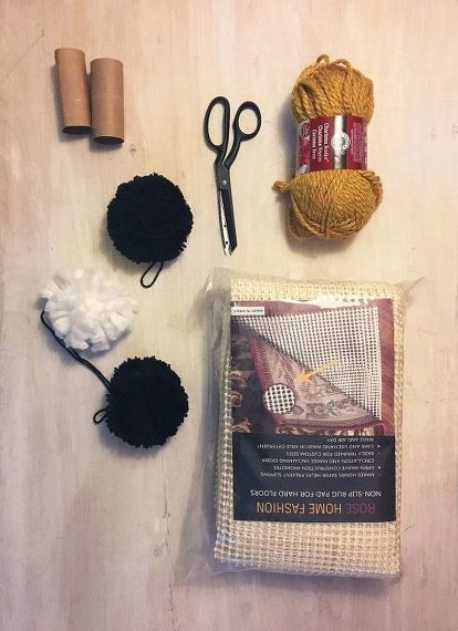 Make Your Own Pom Rug Reupholster
