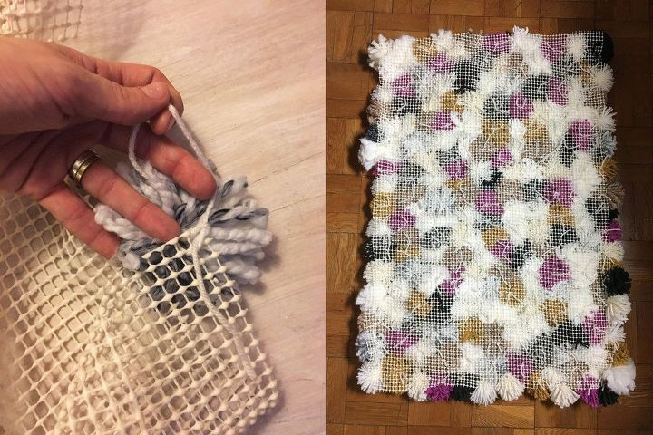 Make Your Own Pom Pom Rug Hometalk