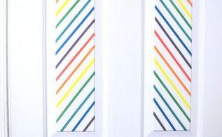 washi tape door decor, doors, home decor