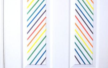 washi tape door decor, doors, home decor