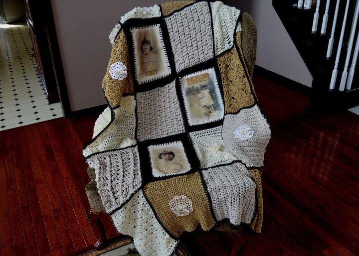 photo memory crocheted afghan