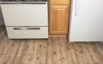 Apartment Friendly Faux Wood Floors With Contact Paper