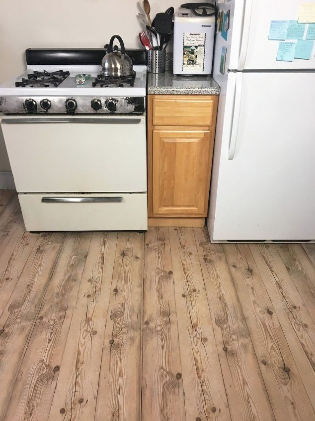 apartment friendly faux wood floors with contact paper flooring - Kitchen Floor Solutions