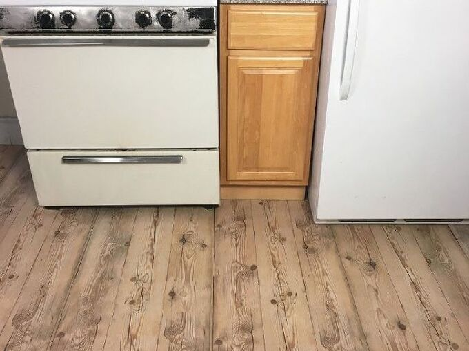 apartment friendly faux wood floors with contact paper, flooring