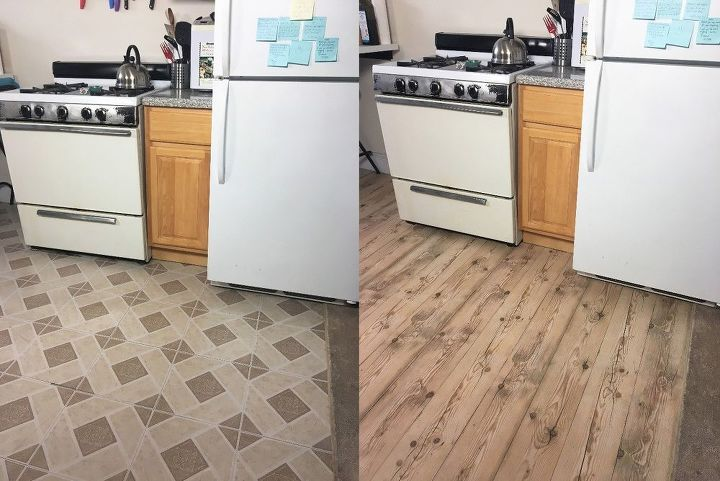 Apartment Friendly Faux Wood Floors With Contact Paper Hometalk