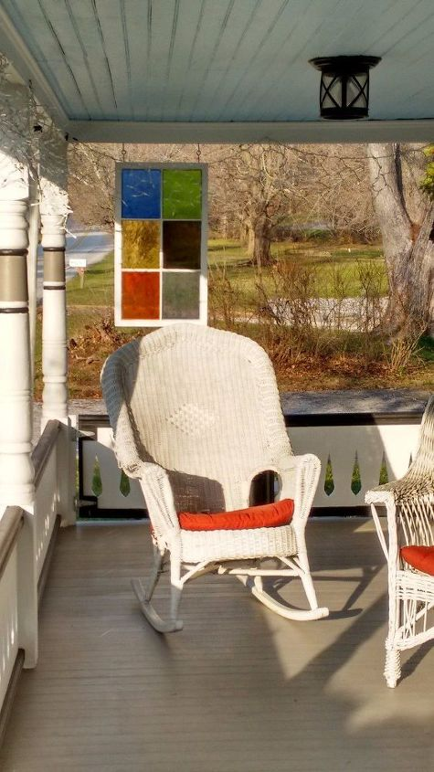 stained glass privacy panel for porch