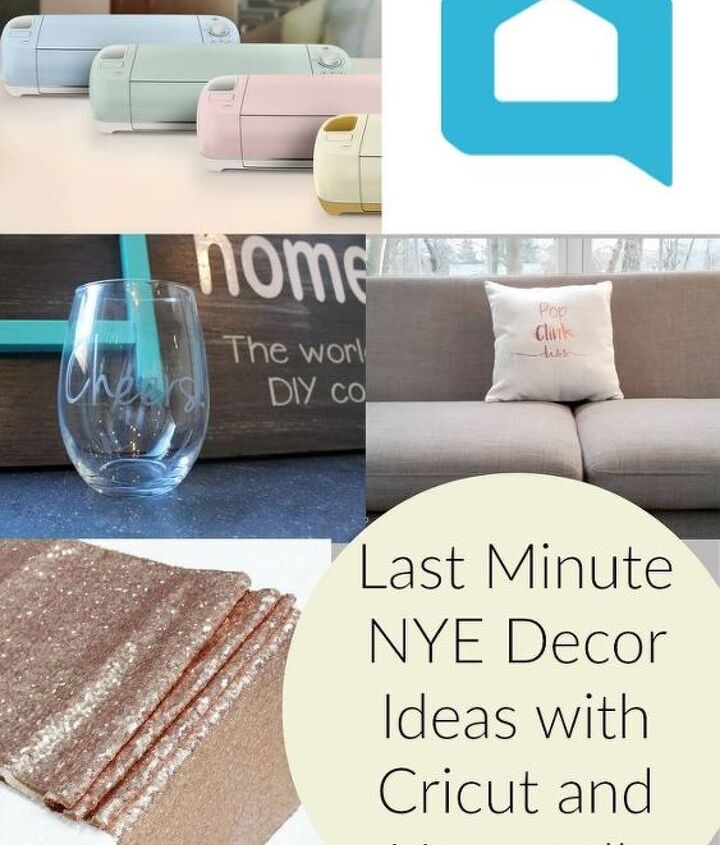 last minute nye decor ideas with cricut, home decor