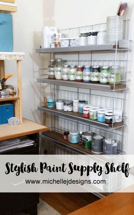 paint storage shelf, shelving ideas, storage ideas