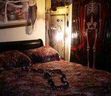 halloween man cave, halloween decorations, seasonal holiday decor