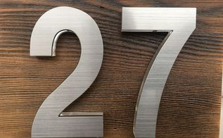how to make a recycled oregon house number, how to