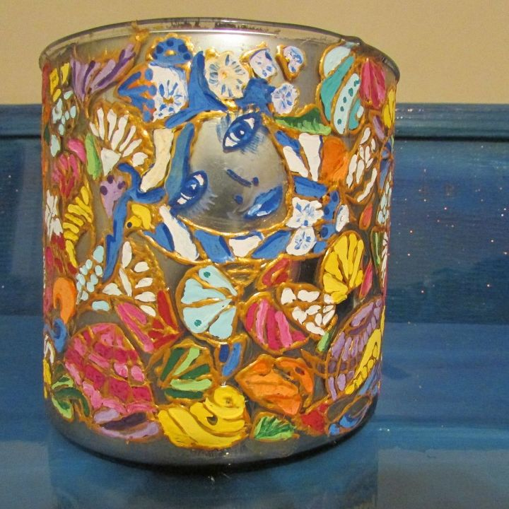 mermaid hide and seek unicorn spit faux stained glass glass bowl