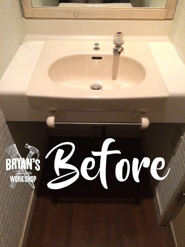 DIY Before & After Bathroom Sink and Ceiling Upgrade. | Hometalk
