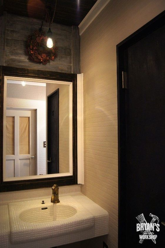 diy before after bathroom sink and ceiling upgrade, bathroom ideas, plumbing, wall decor