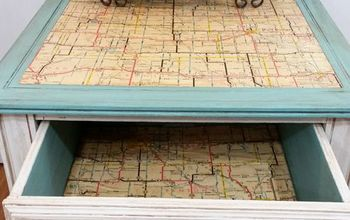 Give New Life To An Old Table With A Map