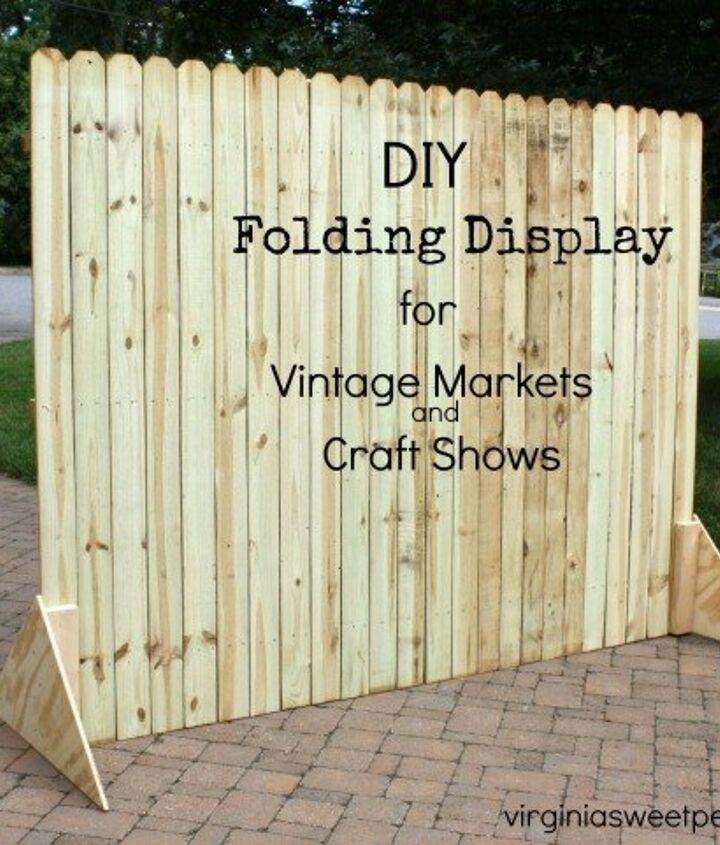 diy folding display for craft shows and markets, crafts