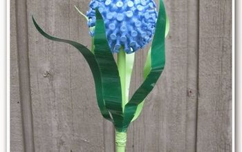 Recycled Flower Garden Art
