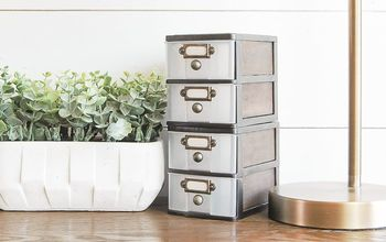 Dollar Tree Bins Turned Industrial Farmhouse Storage