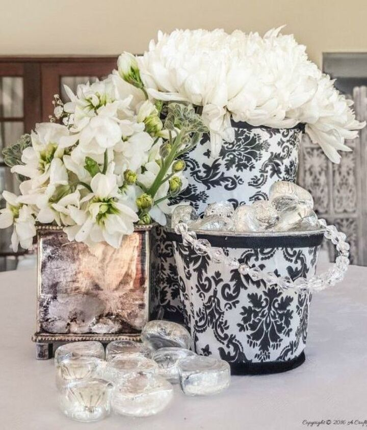 s you need to try these dollar store bucket ideas, Transform them into gorgeous centerpieces