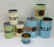 repurposed tin cans