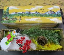 repurposed cloth covered cheese box gift box