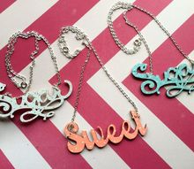 diy typography necklaces