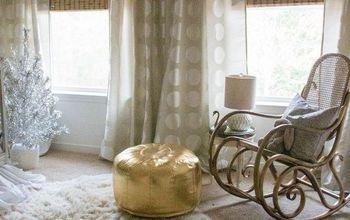 neutral glam rental nursery, bedroom ideas