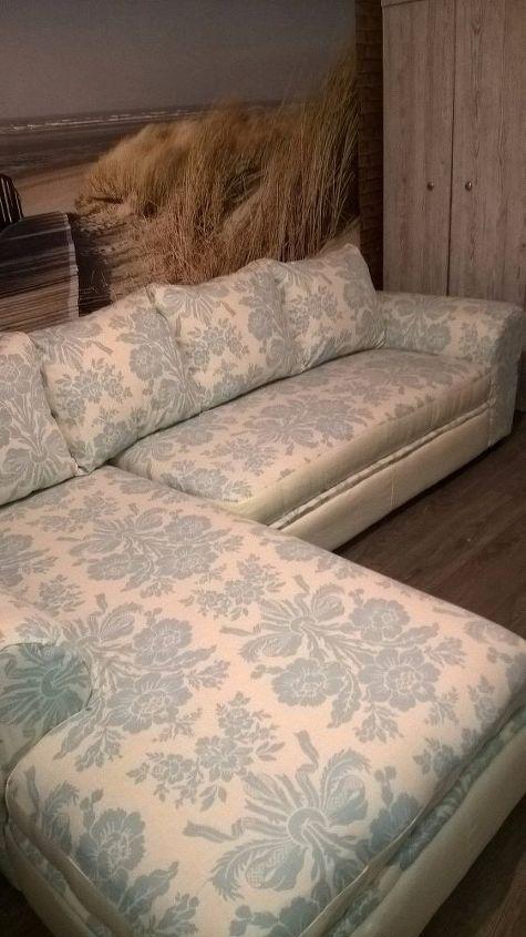 old smelly corner sofa