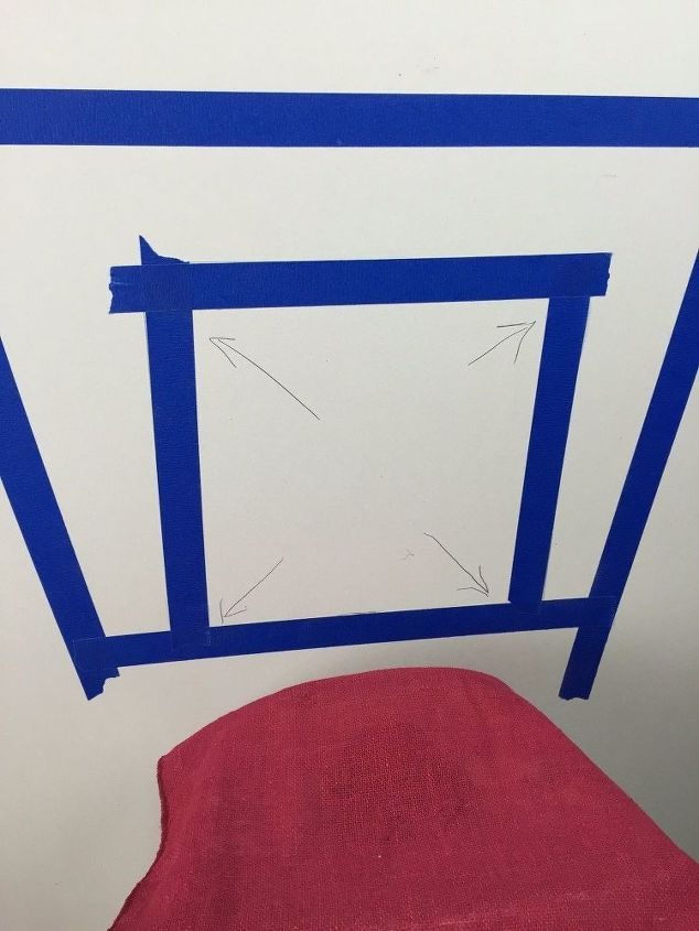 Outline the water tank with painters tape