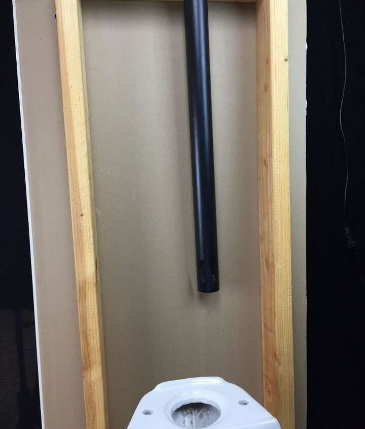 """1.5"""" ABS vent pipe behind toilet up to attic"""