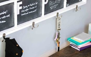 DIY Chalkboard Calendar Window